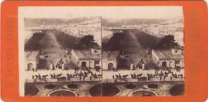 Napoli Italia Foto Sommer Stereo Vintage Albumina Ca 1865