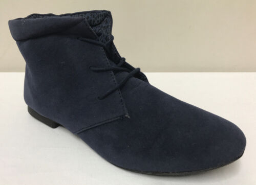 Ex Atmosphere Navy Blue Lace Up Boots Variety Sizes *Sale Price*