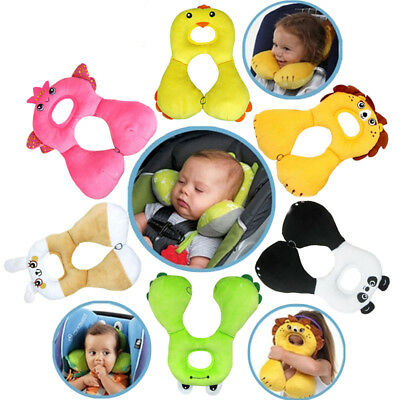 Soft U Shaped Support Head Neck Baby Kid Pillow Travel Car Seat Cushion Headrest