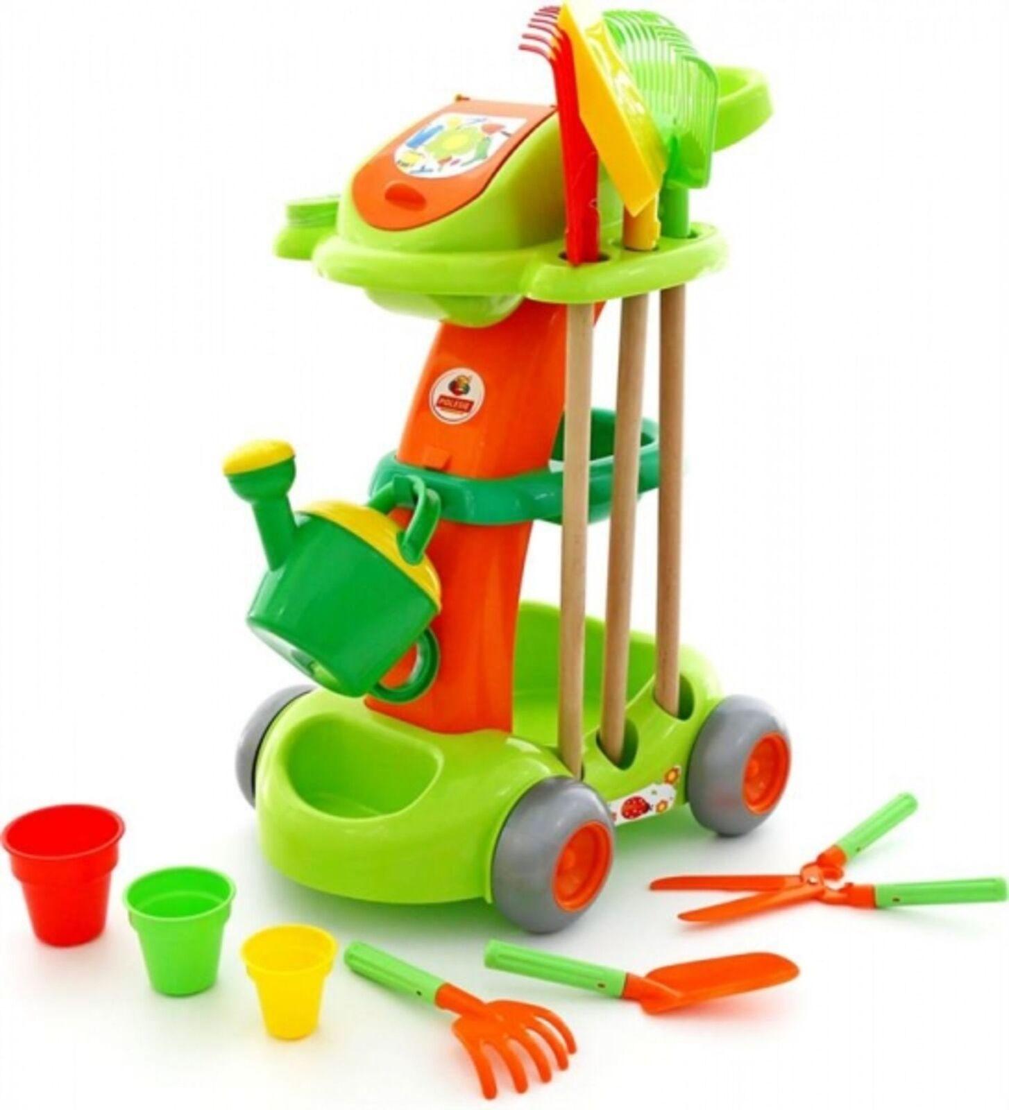 WADER 54548 Gartencaddie 11-tlg. 11-tlg. 11-tlg. Kinderspielzeug Harke Schaufel Gießkanne NEU  | Rabatt  95aed6