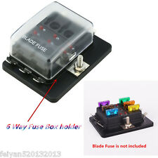 DC 12V/24V 6 Way Circuit Car Boat Auto Blade Fuse Block Fuse Box Holder ATC ATO