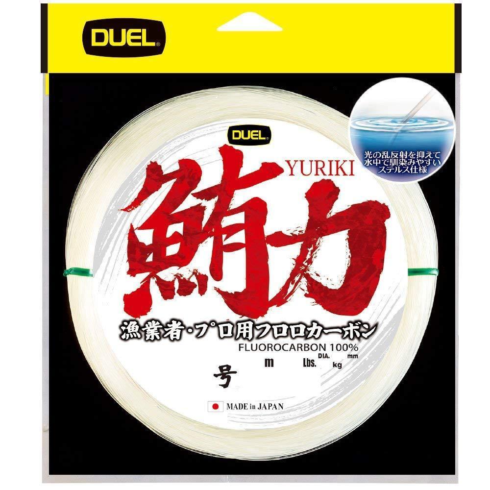 NEW Duel Yuriki 100m 260lb  90 Clear 1.570mm FluGoldcarbon Big Game Tuna Line JPN