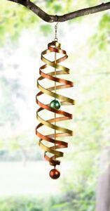 windspiel klangspiel farbspirale metall h ngedeko garten terrasse deko h nger xl ebay. Black Bedroom Furniture Sets. Home Design Ideas