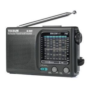 TECSUN-R-909-Portable-AM-FM-SW-Radio-Shortwave-Pocket-Radio-Player-9-Bands-Black