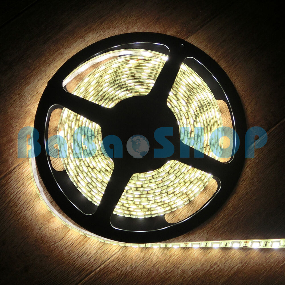 1 5 1050m Warm Weiß 3000K LED 5050 Flexible Strips Light Lamp SMD SMT 60leds M
