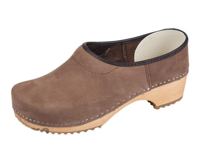 Wooden closed clogs Suede ZF1 US  Braun color  US ZF1 Schuhe Größe  (Damens) b9e7f0