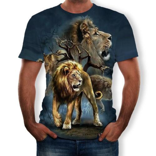 Animal Funny 3D T-shirt Women Men Short Sleeve Tee Tops Blouse Digital Printing