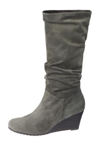 COMMA, Damenschuhe Schuhe Dora High Boot Suede Stiefel Echtleder