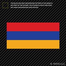 "4"" Armenian Flag Sticker Decal Self Adhesive Vinyl Armenia ARM AM"