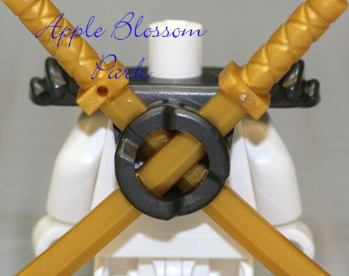 Minifig Black Katana Sword Weapon Holder Lego Ninjago Ninja GRAY SCABBARD ARMOR