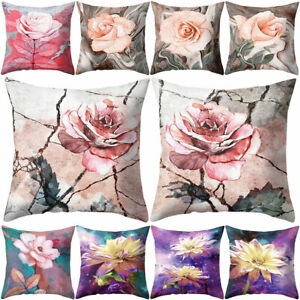 Am-Lotus-Rose-Flower-Pattern-Cushion-Cover-Pillow-Case-Home-Sofa-Car-Office-Dec