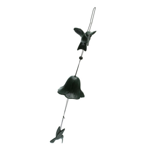Solid Cast Iron Birds Creative Wind Chimes Hanging Decor Bell Handmade Gift