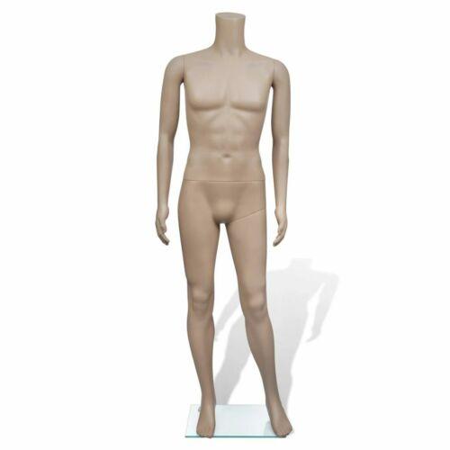 vidaXL Manichino Sartoriale Intero Uomo senza Testa Maschile in PE con Base