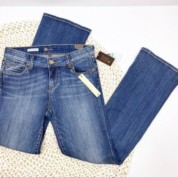 KUT From The Kloth Natalie High Rise Boot Cut Denim Jeans Stretch Size 8 NWT