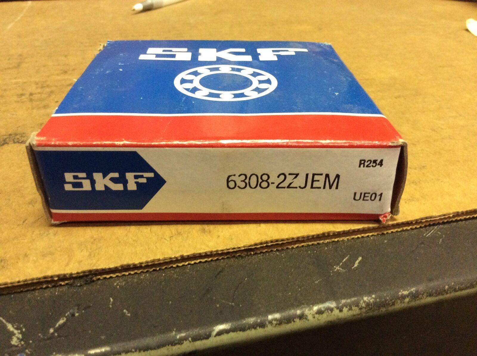 SKF Deep Groove Radial Ball Bearing 6308-2ZJEM 63082ZJEM New