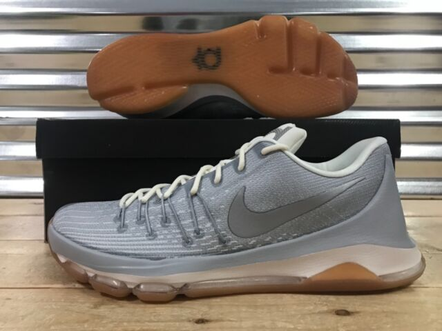 5536e2272c67 Nike KD 8 Kevin Durant Wolf Grey-metallic Silver-white Sz 15 749375 ...