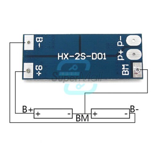 1//2//5//10PCS 2S 8A 18650 Lithium Battery Balance BMS Charger Protection Board