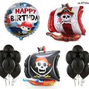 Piraten Party Ballons Luftballon Kinderparty 8 Stück Kindergeburtstag