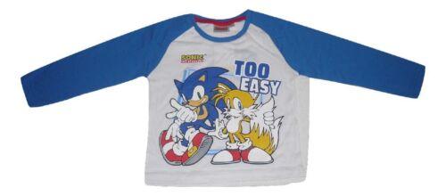 Boys Long Sleeved Top Sonic The Hedgehog 2-8 Years 12555