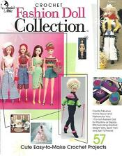 """Fashion Doll Collection #1 Crochet Instruction Pattern Book 11 1/2"""" Barbie NEW"""