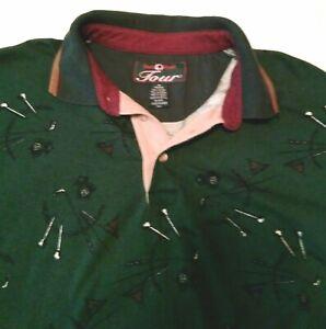 Duck-Head-Tour-Shirt-Size-Men-039-s-Medium-Golf-Motif-Design-Good-Condition