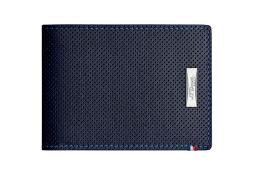 ST Dupont Defi Blue Perforated Leather 6cc Billfold Wallet ST170601