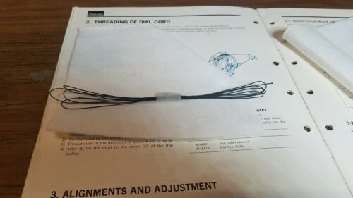 Sansui 9090DB Tuner Dial Cord with Instructions to Install it.