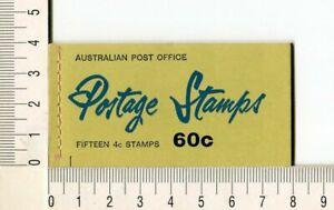 41141) AUSTRALIA 1966 MNH** QEII 4c (x15) n.385 Booklet SG B39E -Imperf L & R