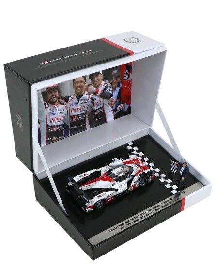 TY13143WM SPARK 1 43 Profit Toyota Gazoo Racing 2018 Le Mans winner memorial  8