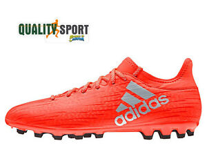 uk availability dc37b 71abd Image is loading Adidas-x-16-3-AG-Orange-man-shoes-