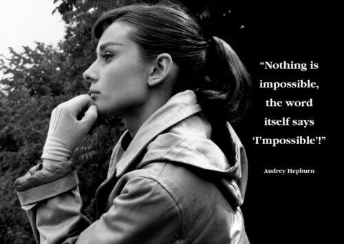 34 Audrey Hepburn Photo Inspirational Actress Quote Picture Vintage Print Poster