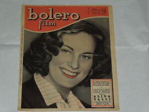 BOLERO FILM DEL 4 APRILE 1948-ALIDA VALLI-MARGA JOYCE, IRENE D'ASFREA, IRMA SAI - Italia - BOLERO FILM DEL 4 APRILE 1948-ALIDA VALLI-MARGA JOYCE, IRENE D'ASFREA, IRMA SAI - Italia