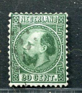 Nederland, nvph 10, 20 ct Willem III, gebruikt ;