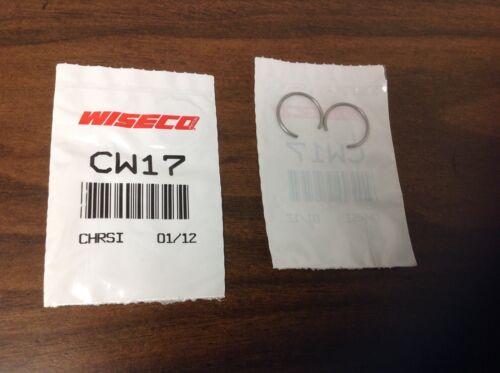 WISECO CW13 cir clip pair 13mm retainer clips round wire wrist gudeon pin locks