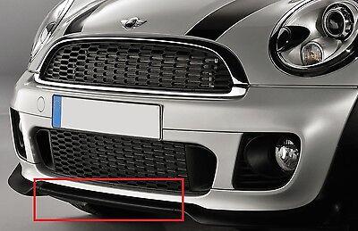 2006-2011 Mini Hatch R56 Centre Pare-chocs avant principal Calandre Noir Chrome Moulage
