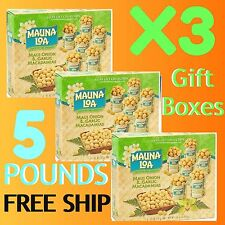 MAUNA LOA MAUI ONION GARLIC MACADAMIA NUTS 6-PACK GIFT BOXES - X3 BOXES = 5 LBS