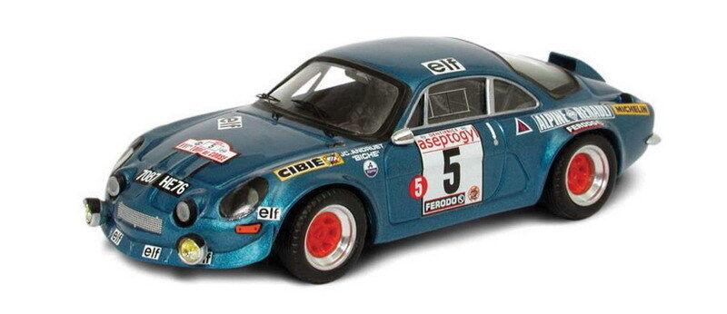 TROFEU 805 822 ALPINE RENAULT A110 modèle rallye Le Mans voitures Collomb Andruet 1 43