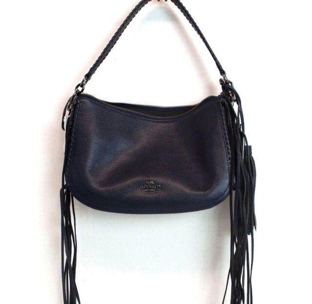 259d5e67e Coach Fringe Chelsea Crossbody in Pebble Leather Style 37740 Dark ...