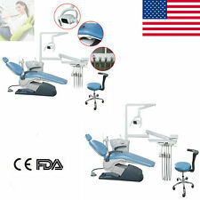 Dental Unit Chair Hard Leather Computer Controlled Highamplow Speed Handpiece Dr