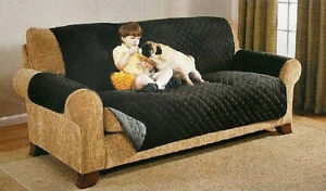 Reversible Furniture Protector Quilted Gray Black