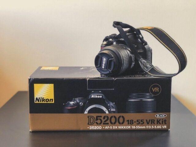 Nikon D5200 24.1MP Black& AF-S VR DX 18-55 Lens Excellent Digital DSLR Camera