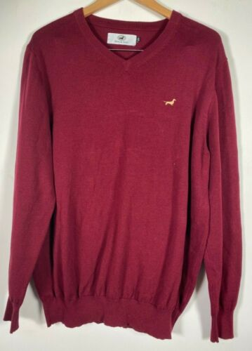Men's Long Sleeve Pullover V Neck Sweater Barry &