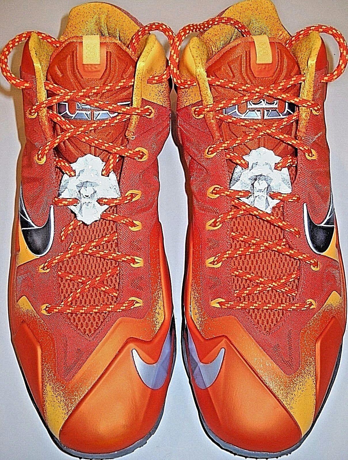 size 40 cdc93 39e99 Lebron james xi preriscaldare taglia 14 arancione scarpa arancione 14 scarpe  p   gray nike sbaffo suole