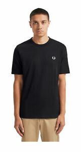 T-shirt-Fred-Perry-uomo-M7534-nera-AI19