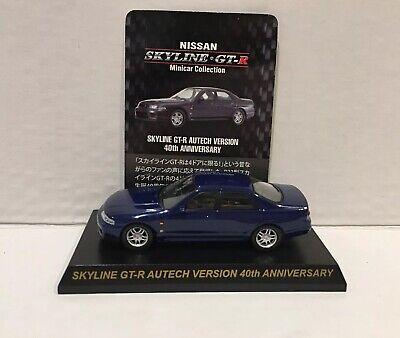 Midnight Purple KYOSHO 1//43 1998 NISSAN SKYLINE GT-R Autech version 40TH Anniv