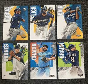 2019-Topps-Fire-Milwaukee-Brewers-6-card-TEAM-SET-Christian-Yelich