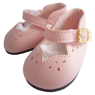 """Yellow White Scallop Shoes made for 14.5/"""" American Girl Wellie Wisher Doll"""