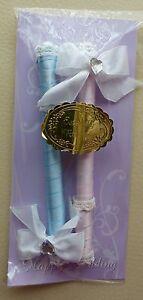 parure-de-stylos-de-mariage-rose-et-bleue