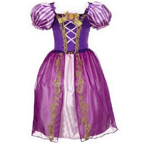 2018 Girls Rapunzel Fancy Dress Costume Kids Princess Outfit UK Ages 2-8 !