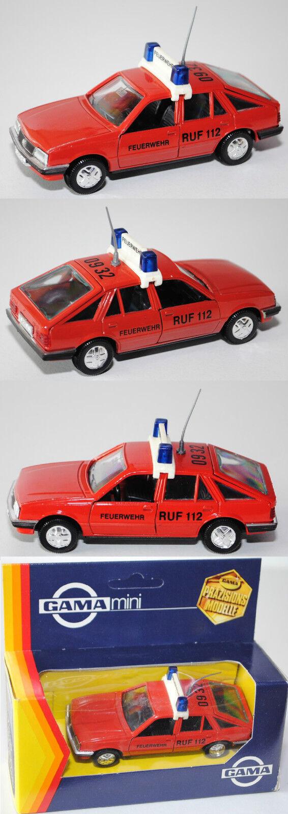 Gama Mini 1172 OPEL ASCONA 1.6 S (Type c1, quatre portes, berline) pompiers, 1 43